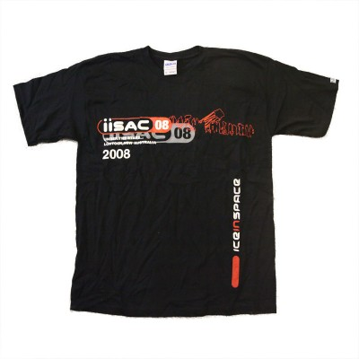 IISAC2008 Black T-Shirt
