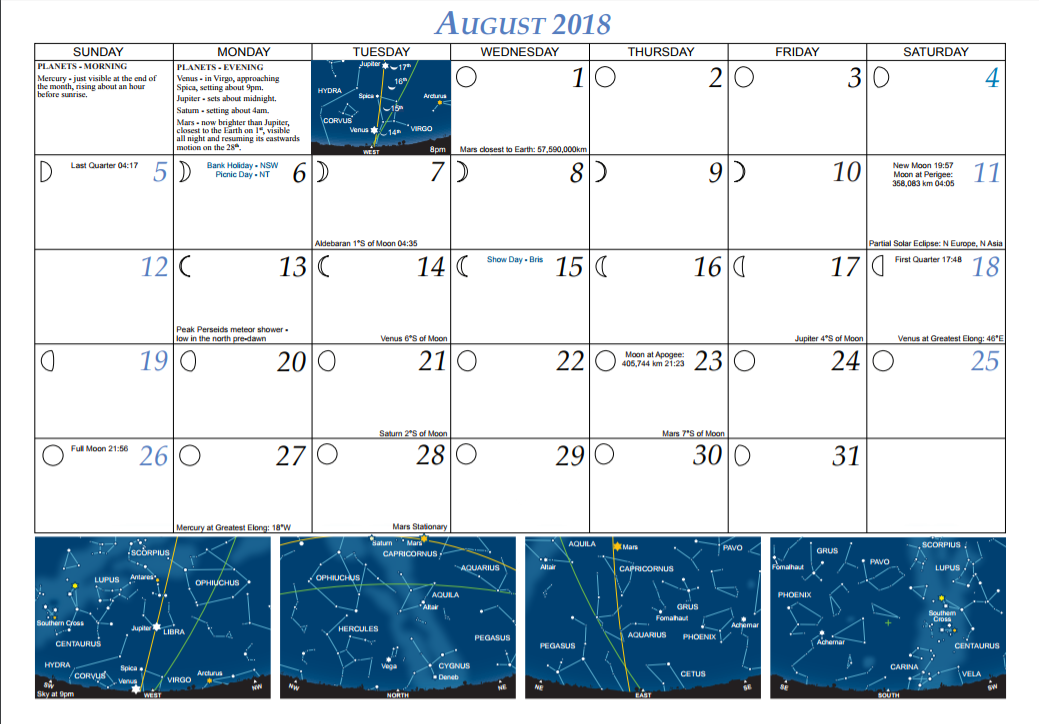 2018 Aug Calendar Pertamini Co