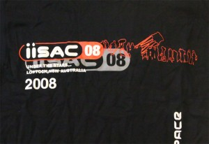 IISAC2008 Black T-Shirt Logo