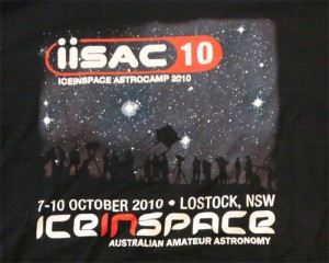 IISAC2010 Black T-Shirt Logo