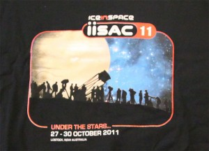 IISAC2011 Black T-Shirt Logo